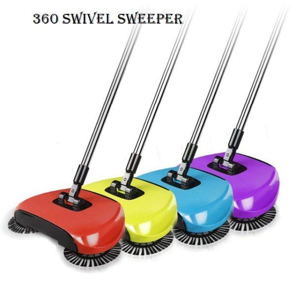 360 hand held swivel sweeper