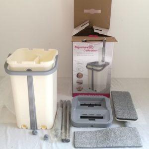 Flat Floor Magic Mop Wash Dry Bucket Microfiber Cloth Set