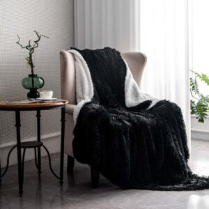 Sherpa wool faux fur throw blanket living room cozy bedroom decoration Christmas birthday gift