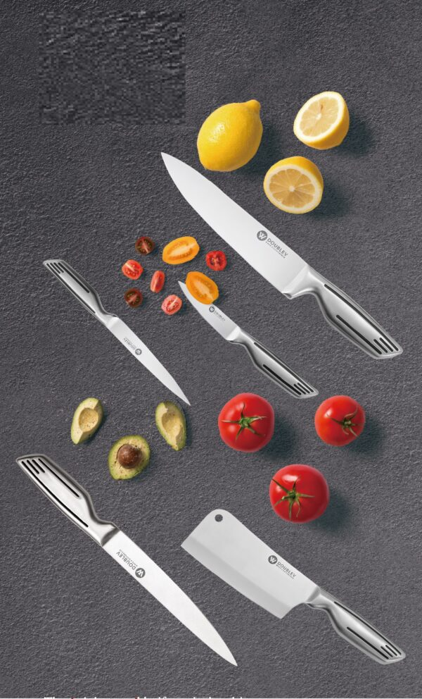 7 pc's stainless steel knife set